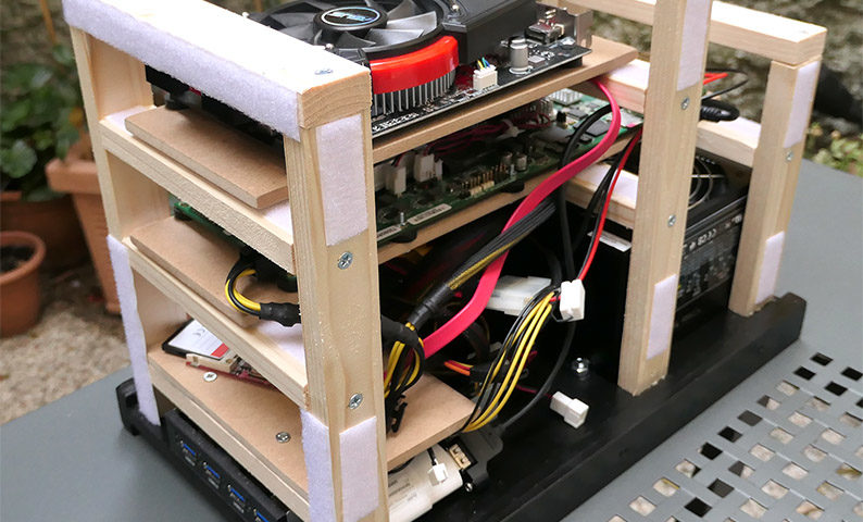 Do It Yourself Wooden Desktop Case For The T2080rdb Power
