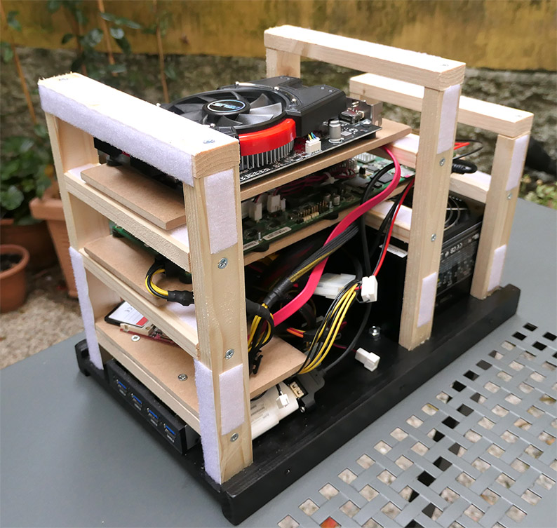 photo of the case interior with all pieces put together